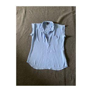 Woman's light blue flow-y blouse